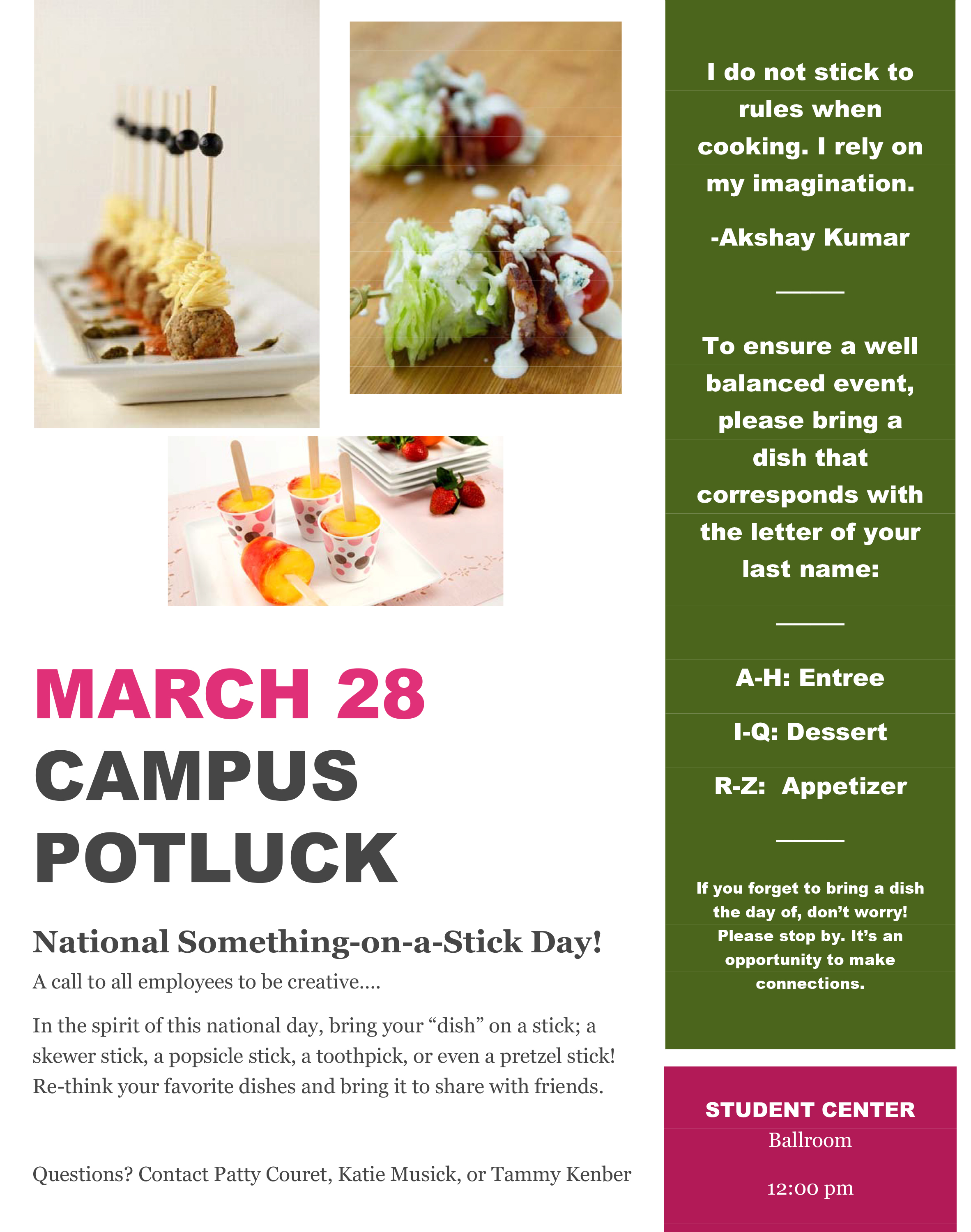 march potluck poster