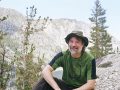 SSU professor Nathan Rank in the Sierra Nevadas near Bishop.