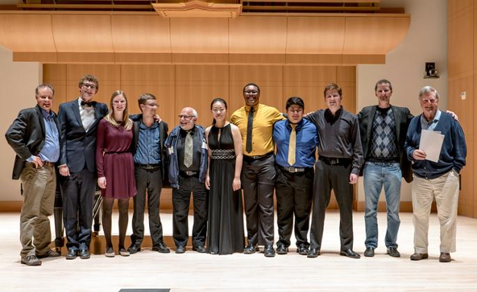 concerto competitors and judges in schroeder Hall