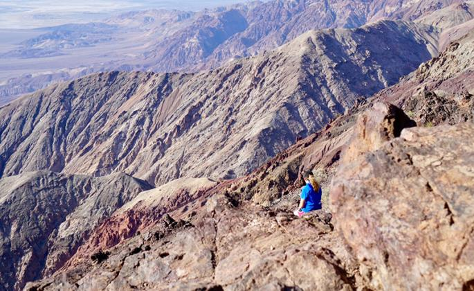 An SSU Geology student surveys the landscape on a recent trip to the Death Valley area.