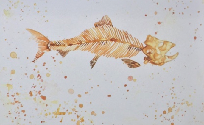 Herring Skeleton by Julia Edith Rigby