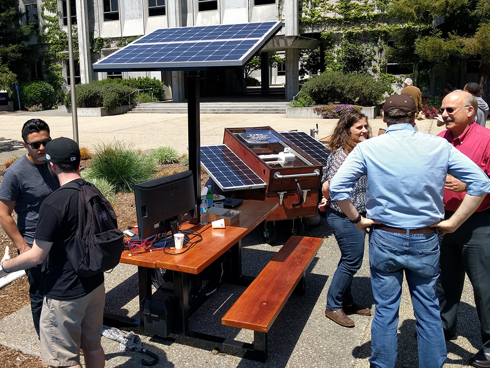 Solar Picnic SSU News - Solar picnic table