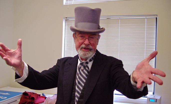 bernard goldstein dressed as darwin