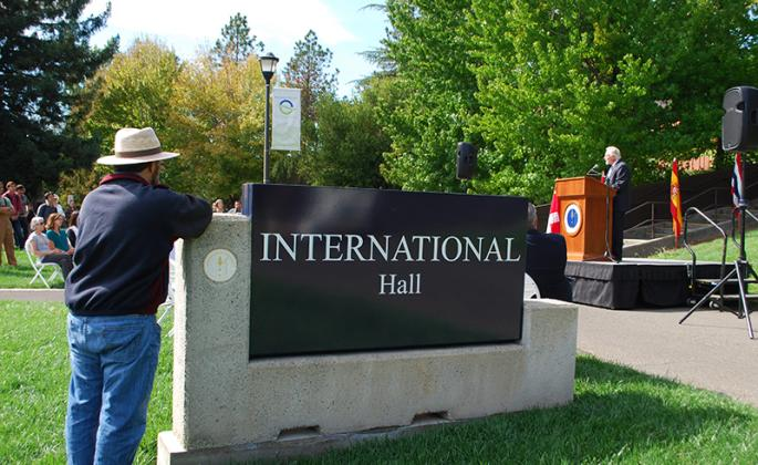 international hall sign