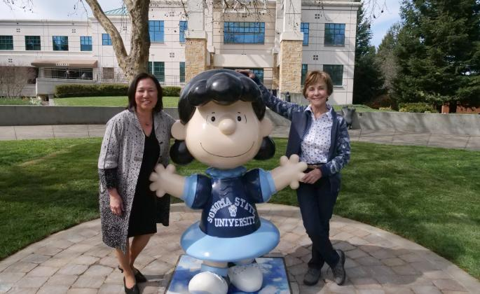 SSU President Judy Sakaki and Jeanie Schulz